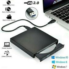 External CD Drive USB 3.0/2.0 Portable CD DVD +/-RW Slim CD Rom Rewriter Burner