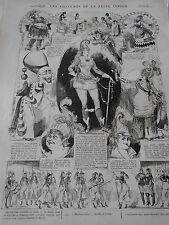Gravure 1872 Les Costumes de la Reine Indigo