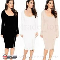 Sexy Women Party Cocktail Dress Ladies Bodycon Long Sleeve Slim Pencil Dress New