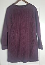 New Look Ladies Red/ Burgundy Knitted Long Jumper Dress Tunic Top Size M