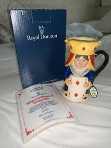 Rare Royal Doulton King And Queen Of Diamonds Boxed With Certificate