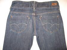 Brown Label Womens Lola Jeans Low Straight Leg Dark Sz 29  $210