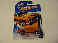 HOT WHEELS 2012 TREASURE HUNT '70 CHEVY CHEVELLE CONVERTIBLE orange *VHTF*
