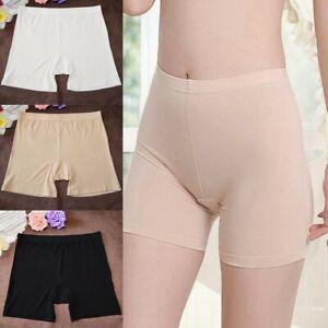 Women's Stretchy Safety Under Shorts Bamboo Fiber Pants Underwear Boxer Briefs
