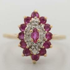 Ruby and Diamond 10K Yellow Gold Ring