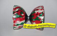 Diabolo Harlekin Medium 3 farbig rot-weiß-grün