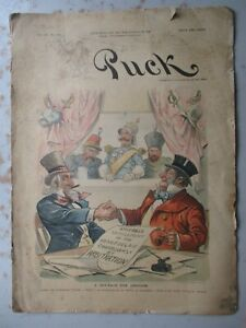 PUCK Magazine - Decemberr 2, 1896 - Uncle Sam & John Bull on Cover