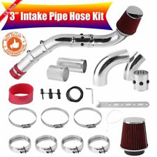 "76mm 3"" Universal Car Performance Cold Air Filter Induction Intake Pipe Hose Kit"