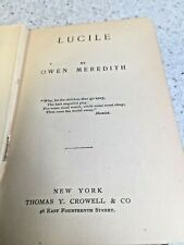 Lucile by Owen Meredith 1892 Publ Thomas Crowell