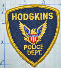 "ILLINOIS, HODGKINS POLICE DEPT SMALL HAT 3"" PATCH"