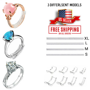 3Pcs Ring Size Adjuster Invisible Clear Ring Sizer Jewelry Fit Reducer Guard US