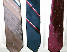 Vintage PIERRE CARDIN Ties Lot of 3 Polyester Silk Made in ITALY FREE SHIPPING