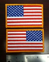 "american flag patch left and right directions set of two patches  3.5"" wide"