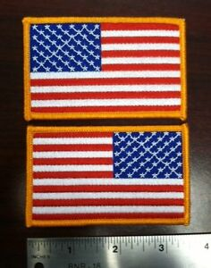 """flag patch american flag patch American flag patch flag patch 3.5""""  two patches"""