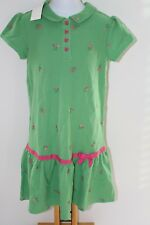 Bright Tulip Flowers Girls Gymboree Green  Pink Floral Dress  Size 10  NEW NWT