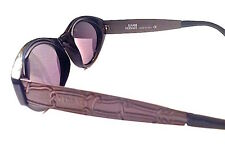 AUTH CHIC VINTAGE GIANNI VERSACE BLACK SILVER SUNGLASSES 470/M 852