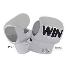 Boxing Glove 925 Sterling Silver Bead Sports Charm fits European Bracelets