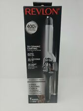 Revlon Perfect Heat Long Lasting Medium Curls 3X Ceramic Curling Wand 1 Inch