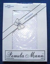 Vintage Pamela Mann weiß Fischnetz Einheitsgröße Strümpfe A