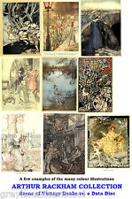 The Arthur Rackham Collection Vintage Illustrated Books on Data Disc A Nice Gift