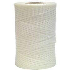 "Wax Impregnated Lacing Cord White Nylon 0.12"" -  250yd Roll   ( LTN_1_WHT )"