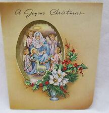 Vintage Christmas Greeting Card 1942 Religious Joyous Spirit Quality Cards USA