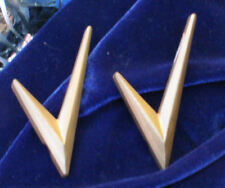 Corvette Parts Replacement 1955 Gold V Place over Chevrolet  side script V Pair