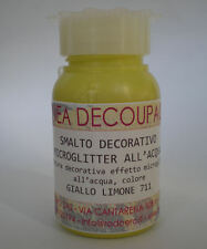 DECOUPAGE - SMALTO DECORATIVO CON MICROGLITTER ALL'ACQUA GIALLO 711 50 ML