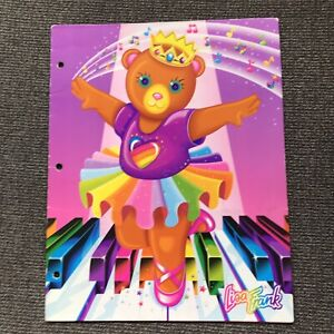 Lisa Frank Bear Ballerina On Piano The Fantastic World Folder Vintage 1990s