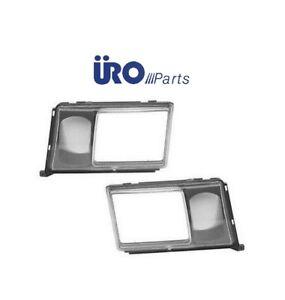 For Mercedes W124 Headlight Door Cover L+R x2 URO Frame Trim Lamp Lens Headlamp