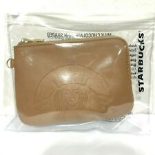 Starbucks Lucky Pouch Brown Case Bag  PF- Leather No Chocolate