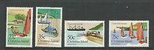 1983 Christmas Island Boat Club set of 4 Complete MUH/MNH