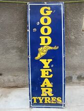 "Vintage Good Year Tire Sign Board Advertise Porcelain Enamel Frankfurter Germa""8"