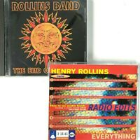 Henry Rollins Band 2 CD Bundle Lot End of Silence Everything Radio Edits Promo