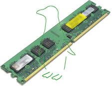 1GB DIMM PC2-6400 DDR2 800 Non-ECC 240-pin Desktop RAM Memory Low Density