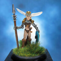 Painted RAFM Miniatures Female Fighter