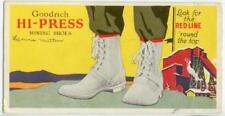 c1940 Goodrich Hi-Press Mining Shoes ad blotter