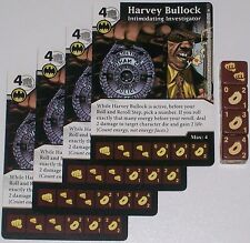 4 X HARVEY BULLOCK: INTIMIDATING INVESTIGATOR 51 World's Finest DC Dice Masters