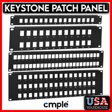 "19"" Keystone Jack Patch Panel 1U 2U 3U 19 inch Blank Rack Mount Cat5e Cat6 Rj45"