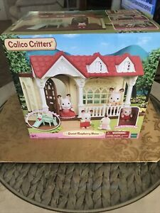 Calico Critters Sweet Raspberry Home Dollhouse Playset with Figure & Furniture