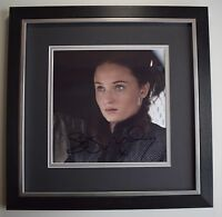 Sophie Turner SIGNED Framed LARGE Square Photo Autograph display Game of Thrones