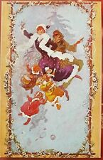 More details for jules cheret, seasons of the years, series 881, winter, postcard