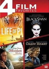 Life of Pi/Black Swan/The Descendents/Crazy Heart (DVD, 2014, 4-Disc Set)