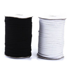 Flat WHITE Elastic BLACK Elastic Cord 3mm 5mm 6mm Face Mask Elastic