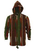 Gheri Jacket Multicolour Hood 100% Cotton Hippie Nepal Hoodie Boho Knitted Coat