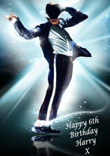 MICHAEL JACKSON FABULOUS, LARGE A5 Personalised Birthday Card Any Name / Age 1