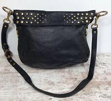 COACH Zoe F15237 Studded Black Leather Shoulder Bag