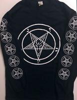 PENTAGRAM Longsleeve T shirt Satanic Clothing Satan witchcraft EVIL GIFT S-  XL