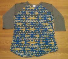 LuLa  Roe Size XL Blue & Yellow Womens  Top NWOT