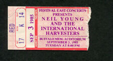 1985 Neil Young International Harvesters concert ticket stub Buffalo Ny Old Ways